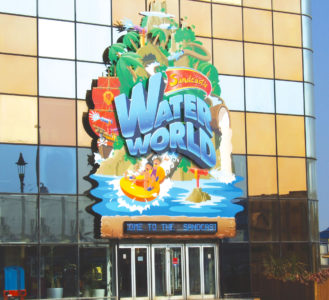 Sandcastle Water World sign