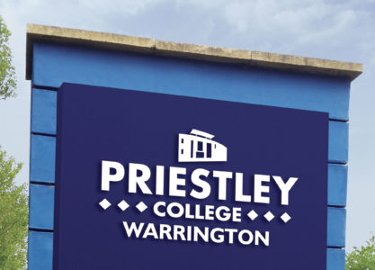 Priestley College entrance sign