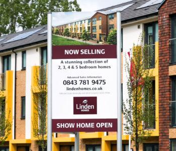 Linden Homes standing sign