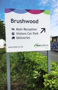 Brushwood post sign