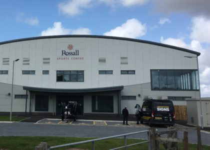 Rossall Sports Centre sign